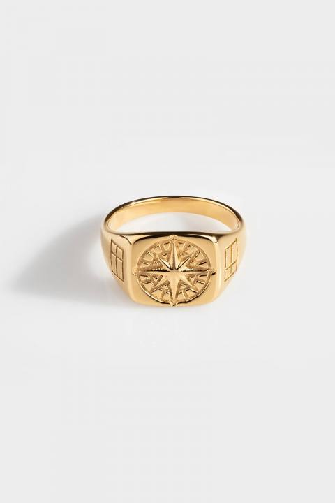 Northern Legacy Compass SignatKlokkee Ring Gold