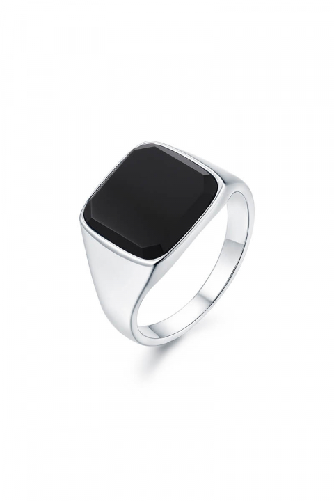 Northern Legacy Black Onyx SignatKlokkee Ring Silver