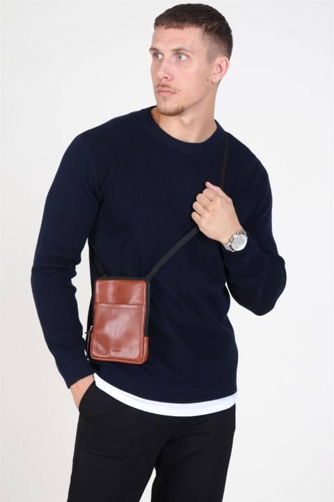 Still Nordic Clean Mini Messenger Bag Cognac