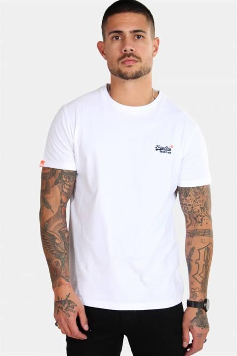 Superdry Orange Label Vintage Emb S/S T-skjorte Optic White