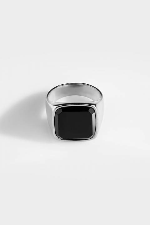 Northern Legacy Oversize Black Onyx Silver