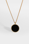 Northern Legacy Black Onyx Halskjede Gold