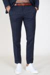 Selected Slim Aden Stripe Bukser Grey/Blue