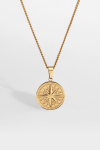 """Northern Legacy Compass Halskjede 2.0 """"Gold"""""""