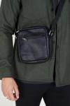 Still Nordic Clean Small Zip Messenger Bag Black