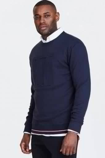 Embossed Sweatshirt Dark Navy