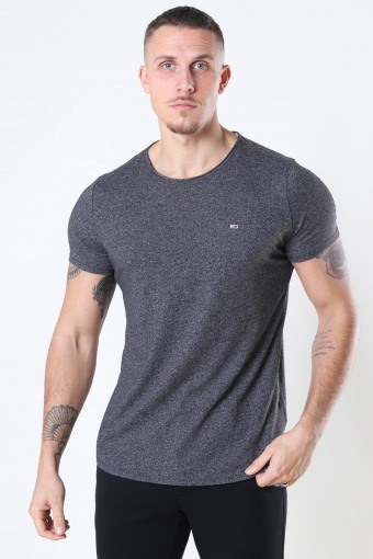 Slim Jaspe Crewneck T-shirt Black