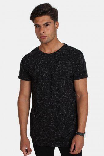 Klokkeban Classics TB1576 Space Dye Turnup T-shirt Black/White