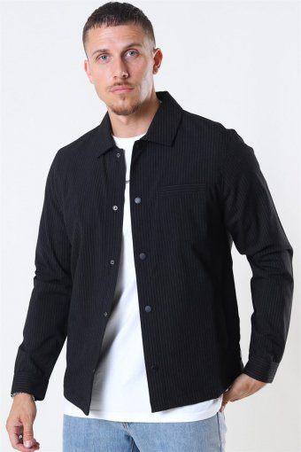 Brenti Stripe Skjorte Black