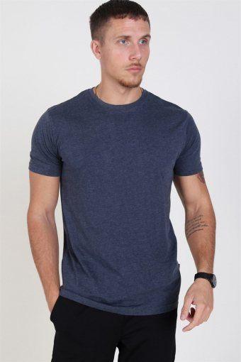 Rock S/S Organic T-skjorte Navy Melange