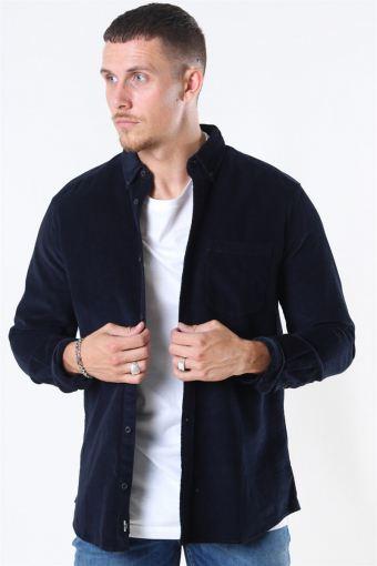 Bennet LS Reg Baby Cord Skjorte Dark Navy