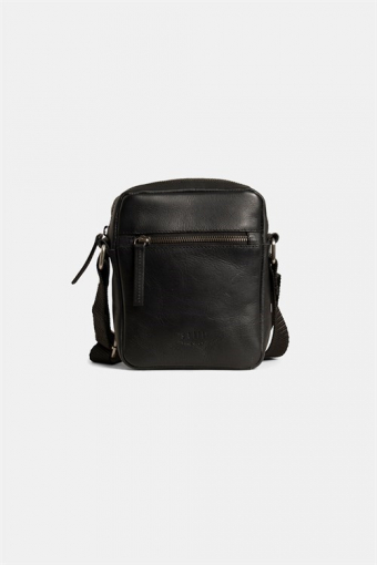 Clean Small Zip Messenger Bag Black