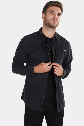 Sheridan Skjorte LS Black Denim