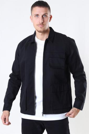 Eddie LS Pocket jacket Black