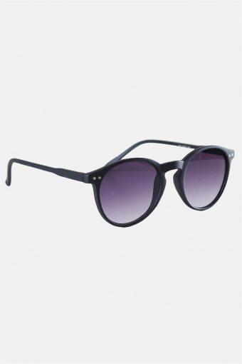 Fashion 1380 Panto Black Rubber Solbrille Grey Gradient