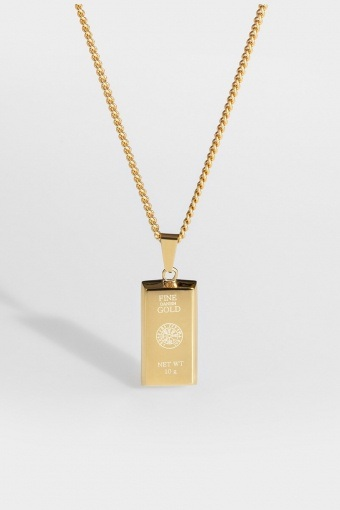 "Goldbar Halskjede ""Guld""."