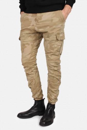 Klokkeban Classics Tb1611 Camo Cargo Jogging Pants Sand Camo