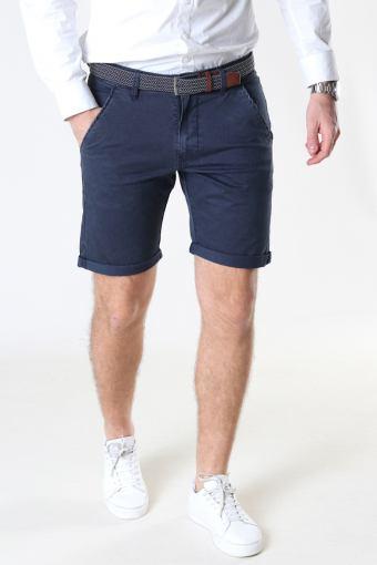 Louis Navy Shorts inkl. Belte