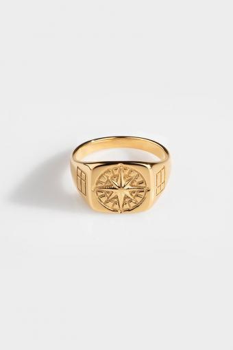 Compass SignatKlokkee Ring Gold