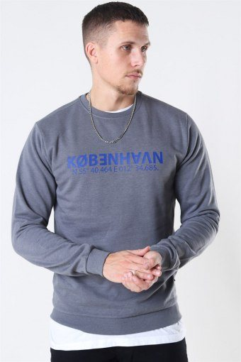 Mark Organic Crewneck Medium Grey Melange