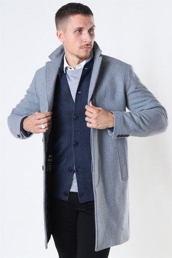 Hagen Uldfrakke Grey Melange