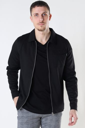 JPRBLAPHIL SWEAT JACKET SN Black SLIM FIT - SOLID
