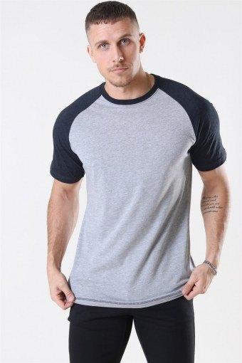 Raglan T-shirt Oxford Grey/Heather Black