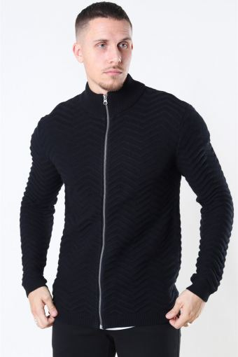 Zip Cardigan Black