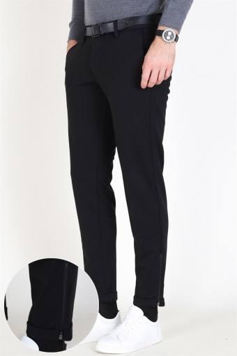 Mark Zip Pants Black