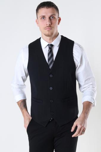 Milano Jersey Waistcoat Black
