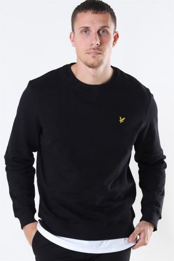 Crew Neck Sweatshirt Jet Black