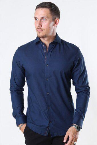 Viggo Dobby Skjorte Navy Blazer