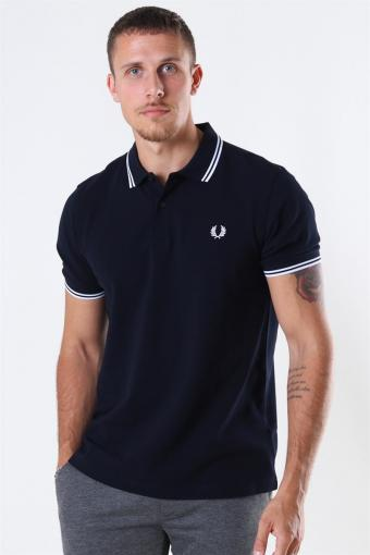 Twin Tipped Polo Navy/White