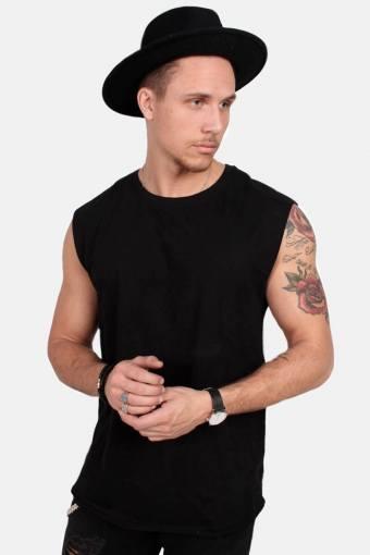 Klokkeban Classics TB1562 Open Edge Sleeveless T-shirt Black