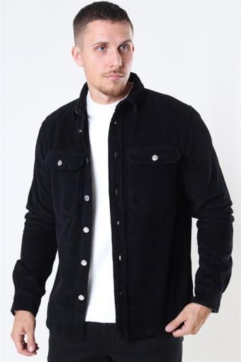 Hagdi Corderoy Overshirt Black