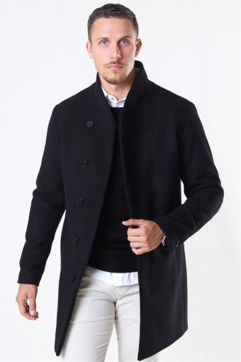 Collum Wool Coat Black