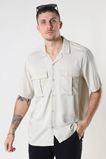 ONSSCOTTIE LIFE SS UTILITY RELAXED SHIRT Pelican
