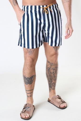 Swim Shorts Navy Stripe