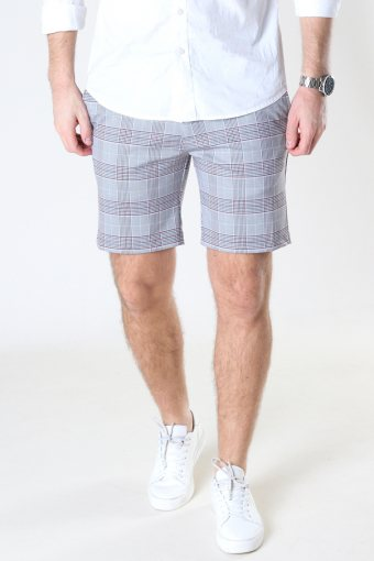 JJIPHIL CHINO SHORTS NOR STS Light Grey Melange AOP