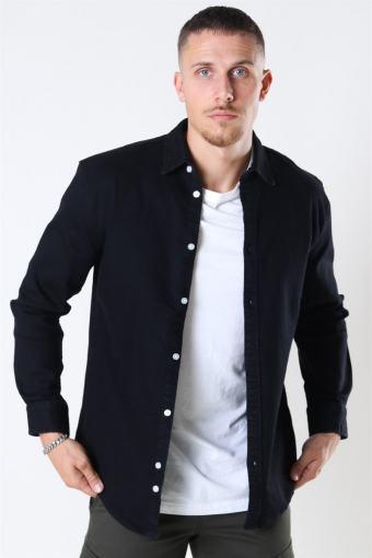 Lenny Denim Skjorte Black