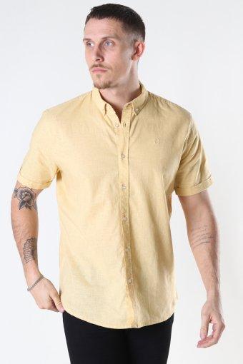 Cotton / Linnen Shirt S/S Pastel Yellow