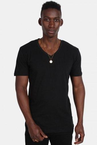 Klokkeban Classics TB1559 Basic V-Neck T-shirt Black