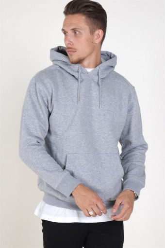 Jack & Jones Soft Genser Hood Light Grey Melange