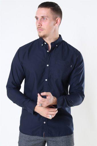 Classic Soft Oxford Skjorte LS Navy Blazer