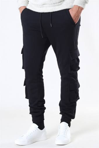 Klokkeban Classics Double Pocket Terry Sweat Pants Black