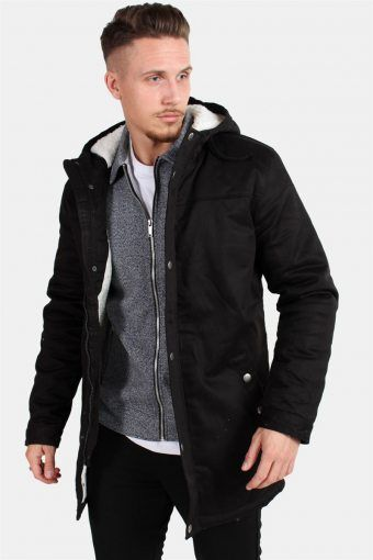 Alex Teddy Parka Jakke Black