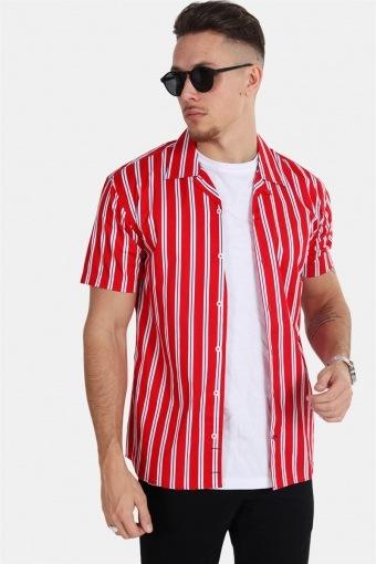 Cuba S/S Gr.81 Skjorte Red/White/Blue