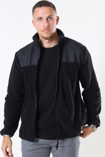 Fleece Zip Puller Jakke Black