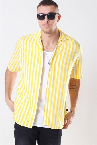 El S/S Cuba Skjorte Yellow/White