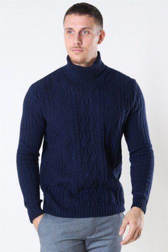 Tailored & Originals Simeon Strikke Insignia Blue